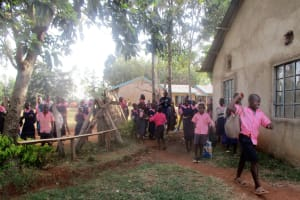 The Water Project: Bumuyange Secondary School -  Primary Students Pass Through