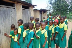 The Water Project: Mahanga Primary School -  Girls Waiting