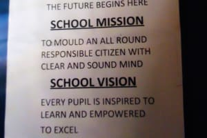 The Water Project: Shipala Primary School -  School Motto