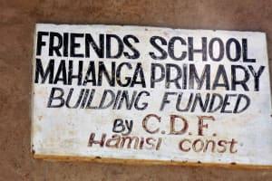 The Water Project: Mahanga Primary School -  School Sign