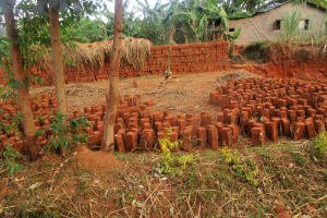 The Water Project: Bumuyange Secondary School -  Local Brickmaking