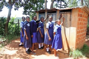 The Water Project: Shipala Primary School -  Girls Latrines