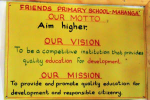 The Water Project: Mahanga Primary School -  School Motto