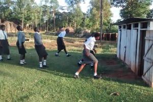 The Water Project: Matsigulu Friends Secondary School -  Rushing To Latrines