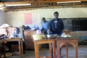 The Water Project: Emmabwi Primary School -  Teachers Eating Lunch