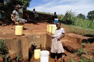 The Water Project: Shipala Primary School -  Community Girl At Spring