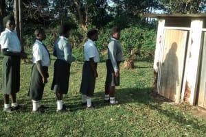 The Water Project: Matsigulu Friends Secondary School -  Latrine Lines