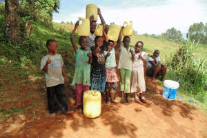 The Water Project: Shipala Primary School -  Community Children At Spring
