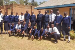The Water Project: Rosterman Secondary School -  Headteacher And Students