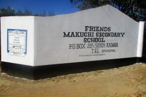 The Water Project: Friends Makuchi Secondary School -  School Entrance