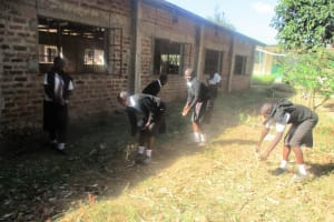 The Water Project: Friends Makuchi Secondary School -  Cleaning The Compound
