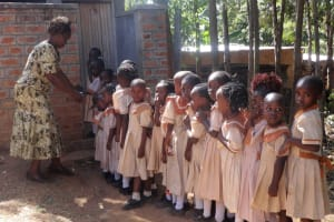 The Water Project: Compassion Primary School -  Latrine Lines