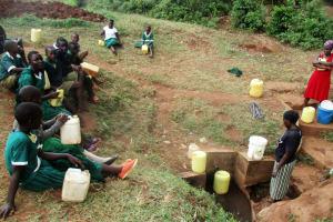 The Water Project: Ebukanga Primary School -  Waiting For Community