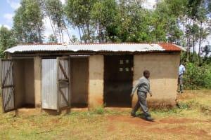 The Water Project: Ebukanga Secondary School -  Latrines