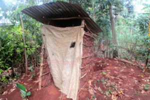 The Water Project: Emabungo Community, Bondeni Spring -  Newly Built Latrine