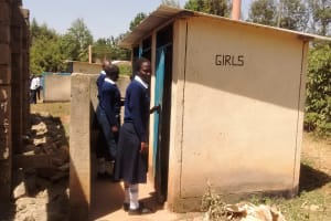 The Water Project: Rosterman Secondary School -  Latrines