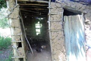 The Water Project: Mwinaya Community, Severe Spring -  Latrine