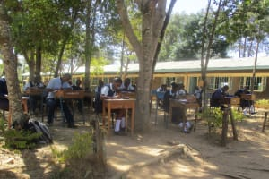 The Water Project: Ikonyero Secondary School -  Not Enough Classrooms