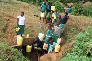 The Water Project: Ebukanga Primary School -  Fetching Water