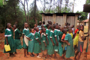 The Water Project: Emurembe Primary School -  Line For Latrines