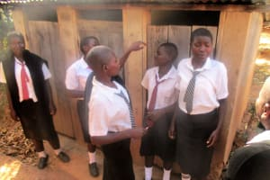 The Water Project: Friends Makuchi Secondary School -  Girls Line Up