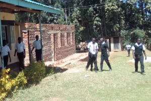 The Water Project: Bumira Secondary School -  Coming From The Two Latrines
