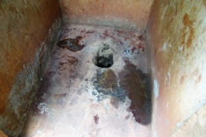 The Water Project: Emurembe Primary School -  Inside Latrine