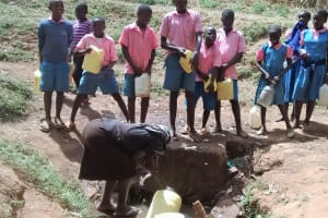 The Water Project: Virembe Primary School -  Waiting To Fetch