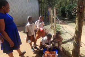 The Water Project: Compassion Primary School -  Washing Hands