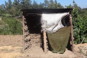The Water Project: Shitungu Community, Suleiman Spring -  Latrine