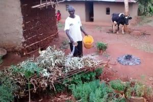 The Water Project: Kidinye Community, Wamwaka Spring -  Zachariah Anavira At His Homestead