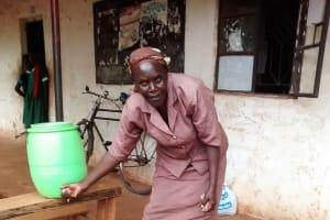 The Water Project: Ebukanga Primary School -  Hand Washing Station