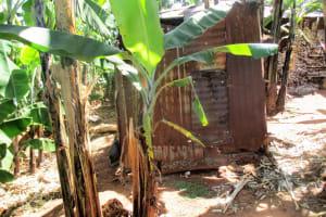 The Water Project: Kidinye Community, Wamwaka Spring -  Traditional Latrine