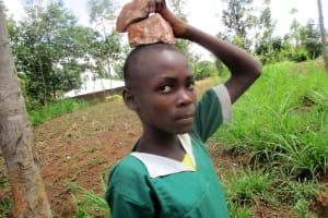 The Water Project: Ebukanga Primary School -  Gathering Materials