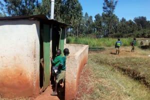 The Water Project: Kilingili Primary School -  Boys Latrines