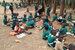 The Water Project: Ebukanga Primary School -  Class Under Trees