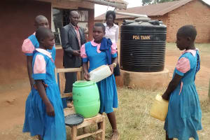 The Water Project: Virembe Primary School -  Refilling Hand Washing Station