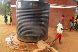 The Water Project: Emurembe Primary School -  School Water Tank