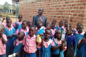 The Water Project: Virembe Primary School -  Students And Headteacher