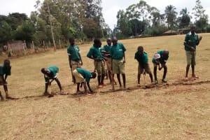 The Water Project: Ebukanga Primary School -  Marking The Field For Games
