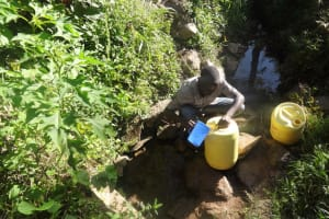 The Water Project: Shitungu Community, Hessein Spring -  Hussein Spring
