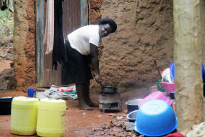 The Water Project: Emabungo Community, Bondeni Spring -  Local Homestead Of Mrs Joan Odere