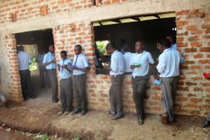 The Water Project: Ebukanga Secondary School -  Students Enjoy Lunch