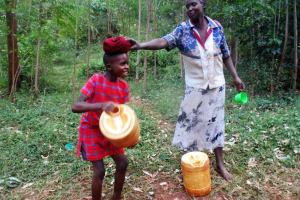 The Water Project: Kidinye Community, Wamwaka Spring -  Heavy Water
