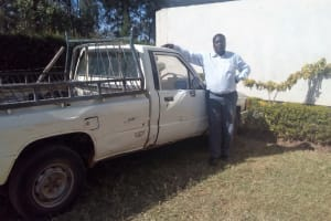 The Water Project: Bumira Secondary School -  Principal With His Truck