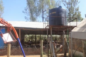 The Water Project: Compassion Primary School -  Water Storage Tank