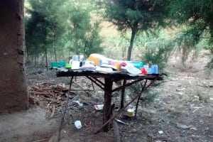 The Water Project: Mwinaya Community, Severe Spring -  Dish Rack