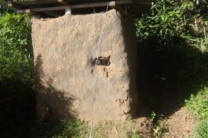 The Water Project: Shitungu Community, Hessein Spring -  Traditional Latrine