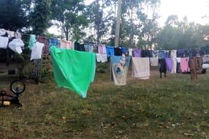 The Water Project: Mwinaya Community, Severe Spring -  Clothesline