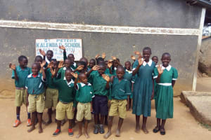 The Water Project: Kalenda Primary School -  Students By Entrance